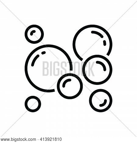 Black Line Icon For Bubble Delusion Foam Air-bubble Soap-bubble