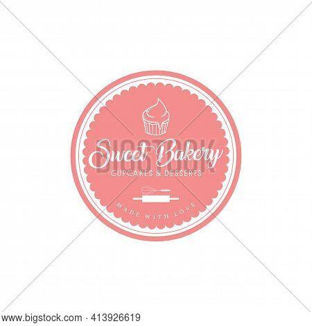 Sweet Bakery Logo, Bakery And Dessert Logo Flat Design Vector