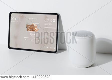 Tablet with smart speaker innovative technology