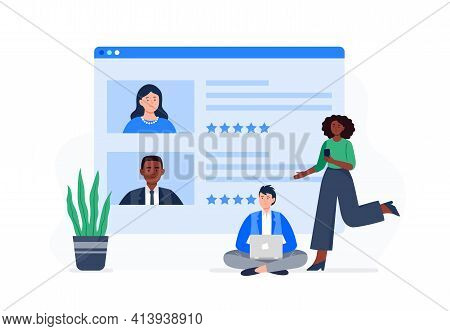 People Choose The Best Rating Online Course. Students Rate The Viewed Course. People Improve The Qua