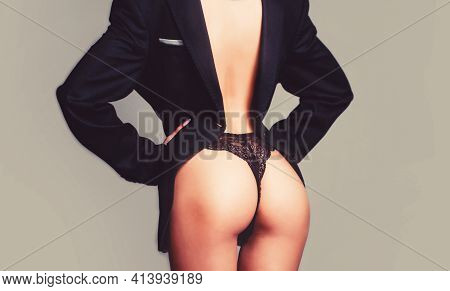 Luxury Mens Classic Suits. Woman Butt. Bikini Underwear. Big Sexy Buttocks. Sexy Ass, Sensual Woman