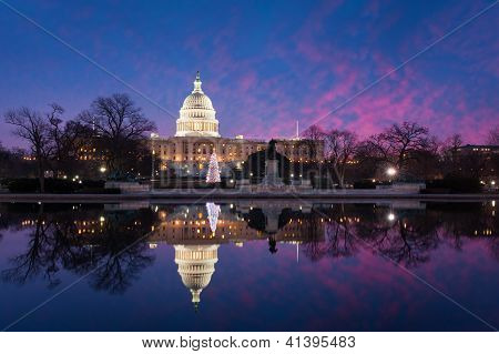 United States Capitol Building Sunrise Reflections