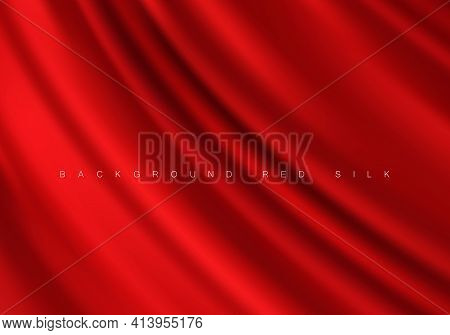 Luxurious Fabric Red Background Silk Drapery Background