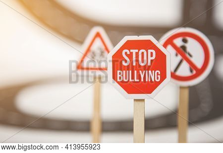 Stop Bullying Sign. Stop Bullying. Top Discrimination Based On Race Religion Gender