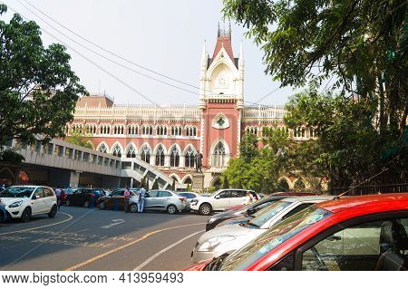 The Calcutta High Court, Is The Oldest High Court In India. The Building Design Is Based On The Clot