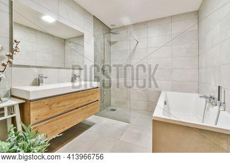 Beautiful Interior Design Of A Modern Bathroom