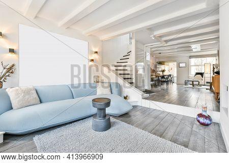 Luxury Interior Design Of A Living Room With Elegant Furniture