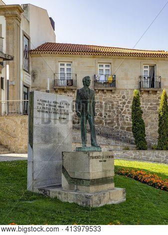 Statue Of Dr Francisco Sá Carneiro In Viseu, Portugal