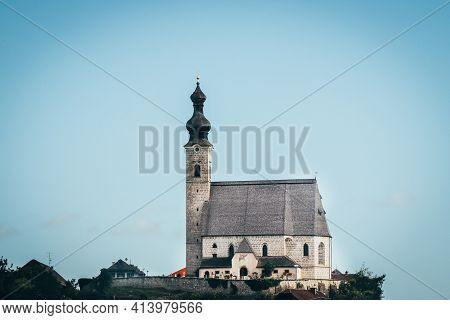 Ancient Christian Church On A Raised Rock As A Dominant Feature Of Christianity In The Austrian Land