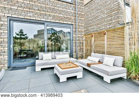 Beautiful Roof Terrace Of A Luxury Home