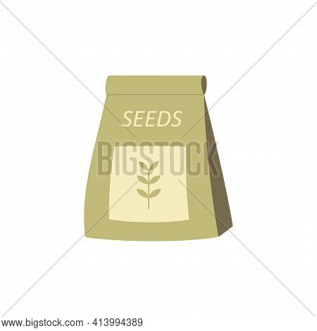 Seeds For Planting, Gardening Supplies, Vector Illustration, Colorful Cartoon Clipart Isolated On Wh