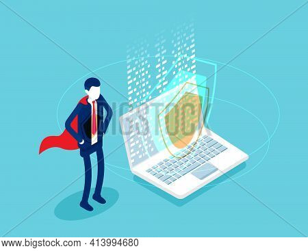 Security And Antivirus Protection. Industry Of Telecommunication. Isometric Vector Concept