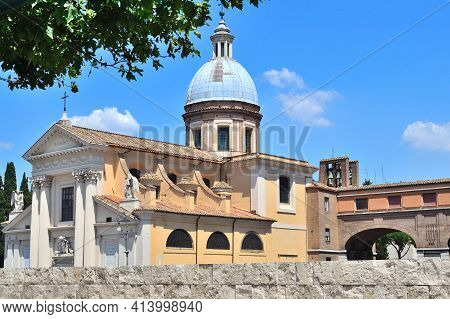 Italy. Wonderful Architecture Of Rome On A Sunny Summer Day