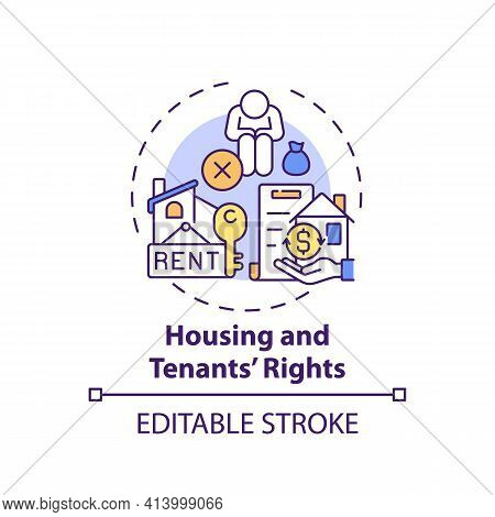 Housing And Tenants Rights Concept Icon. Legal Services Types. Series Of Laws Prevent Housing Discri