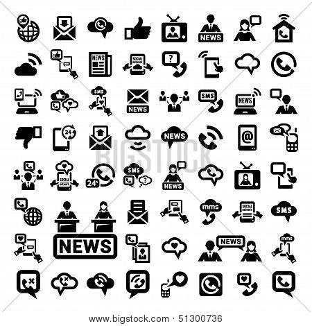 big communication icons set