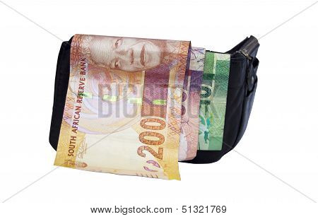 Three South African Bank Notes In Wallet