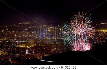 Fireworks In Barcelona