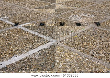 Floor Made ??of Pebbles