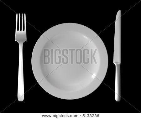 Cutlery - Dish, Fork And Knife