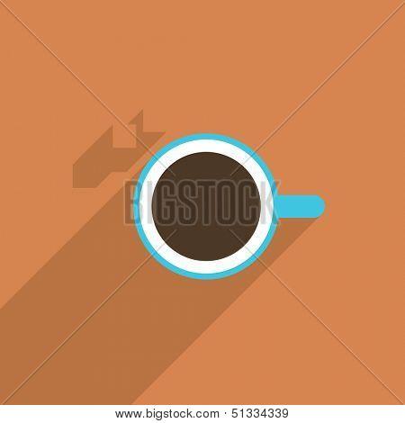 Minimal illustration of coffee cup