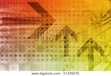 Business Finance and Technology as a Art Abstract poster