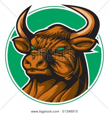 Bull representing Taurus zodiac sign or just a sharp vector graphic for general use. Layered and easy to edit.