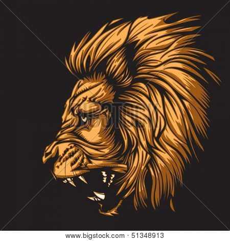 Lion representing Leo zodiac sign or just a sharp vector graphic for general use. Layered and easy to edit.