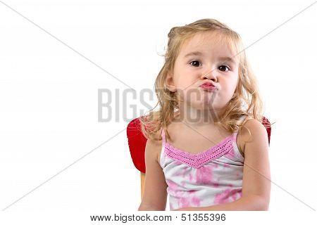Very Bored Toddler Girl