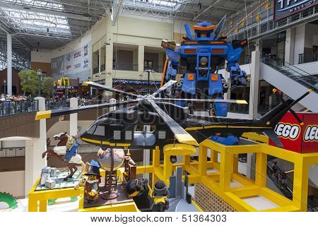 Lifesize Lego Sculptures Greet Shoppers At Mall Of America In Bloomington, Mn On July 06, 2013