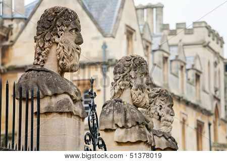 Sheldonian Statues. Oxford,  England