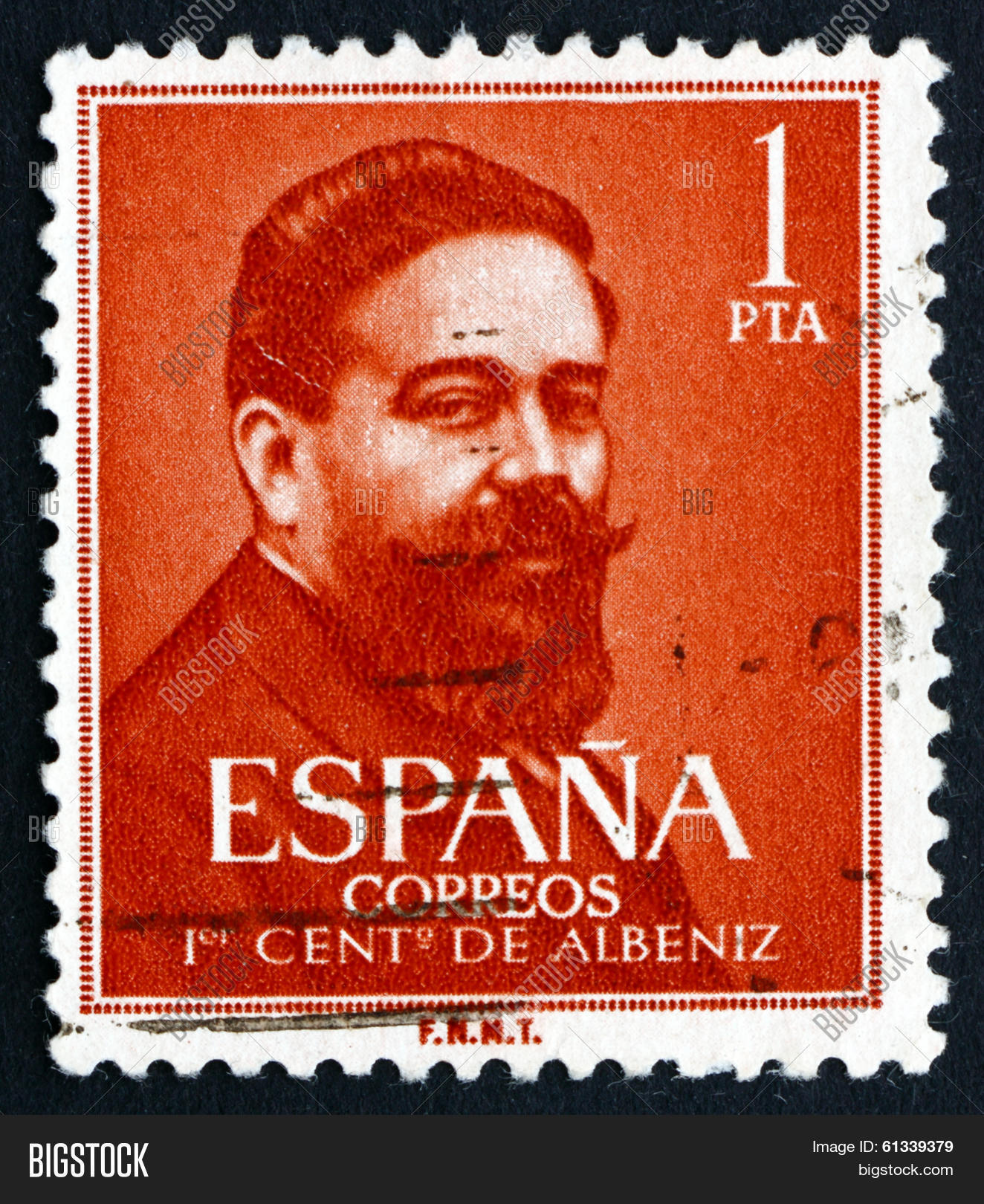 Postage Stamp Spain 1960 Isaac Albeniz Spanish Composer