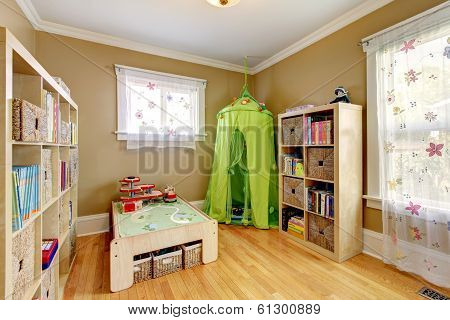 Kids Room With A Green Tent