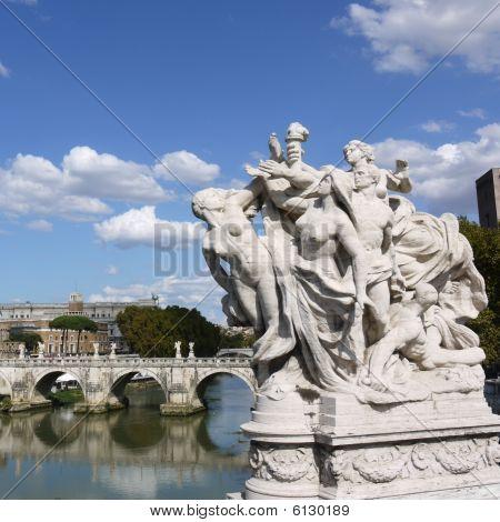 Cluster Of Sculptures On The Bridge