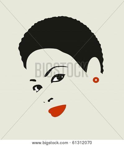 Black hair woman.