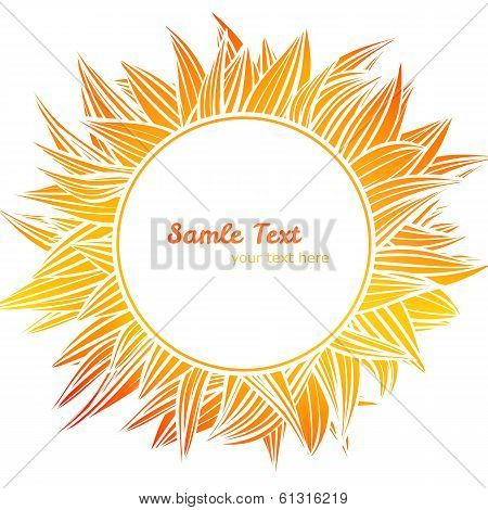 Abstract vector background, flower