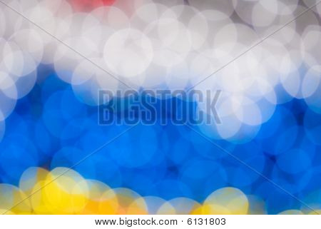 defocused abstract background of color night holiday lights poster