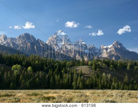 Grand Tetons, Foothills And Prairie