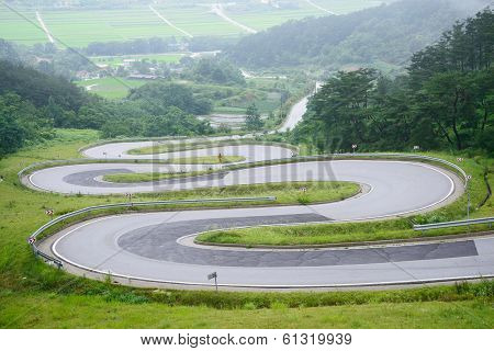 Winding Road In Korea, Called Odo-jae