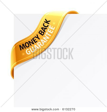 Money back guarantee sign. Vector.