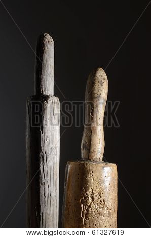 Two Wooden Phallic Object