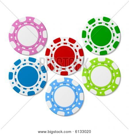Poker chips. Vector illustration.