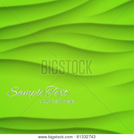 Wave green bright background
