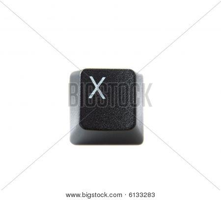 Keyboard Letter X