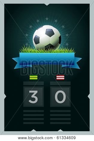 Vector soccer scoreboard design. Elements are layered separately in vector file. Easy editable.