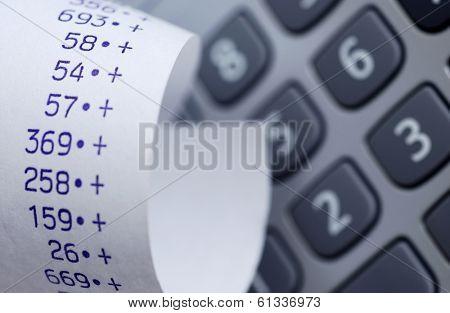reciept and calculator