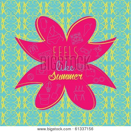Feels like summer vector illustration