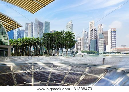 Downtown Singapore from Marina Bay Sands.
