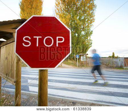 Stop Pedestrian Crossing