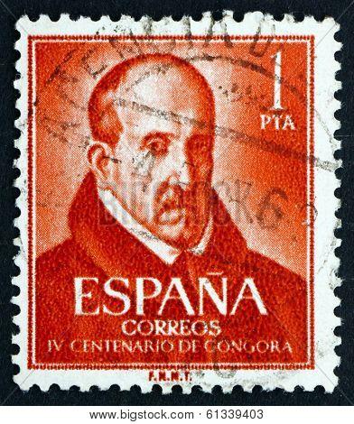 Postage Stamp Spain 1961 Louis De Argote Y Gongora, Poet