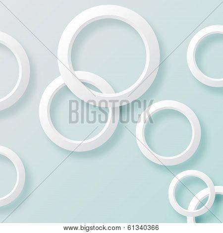 White circles background